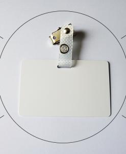 Pince Crocodile Metal Badge Professionnel Laniere Plastique Transparent