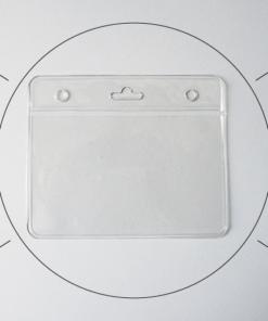 Porte badge professionnel souple adapté au badge pvc format carte de fidélité (86x54mm)