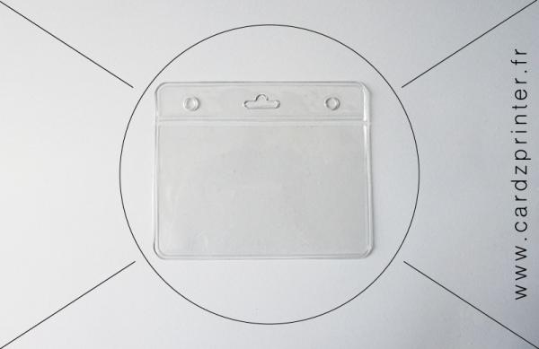 porte badge professionnel souple transparent pour badge professionnel. Black Bedroom Furniture Sets. Home Design Ideas