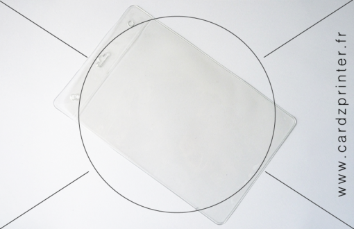 Porte badge transparent format A6 (105x148mm)