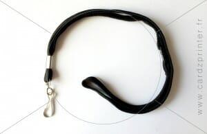 Porte-badge tour de cou avec mousqueton disponible à l'unité