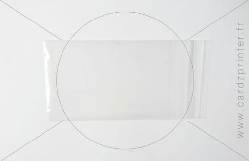 Emballage multiusage pour carte cadeau à imprimer, carte de fidélité et carte pro en plastique transparente (65x100mm)