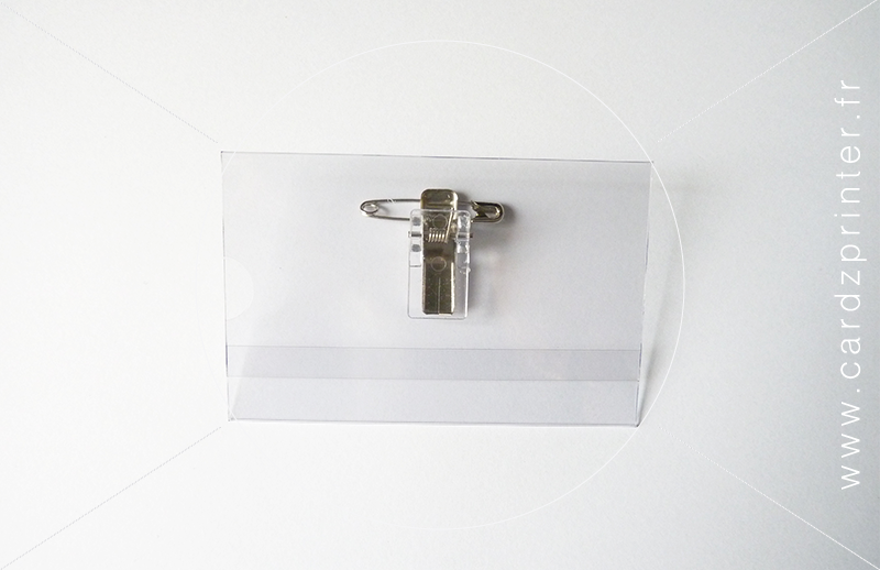 Porte badge conf rence professionnel semi rigide plastique - Porte badge rigide transparent ...