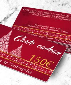 Carte cadeau plastique à imprimer abietes rouge