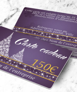 Plastic gift card to be printed abietes purple