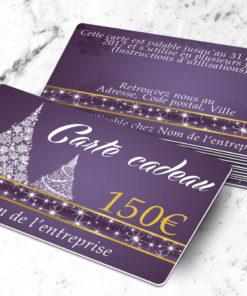 Carte cadeau plastique à imprimer abietes violette