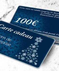 Carte cadeau plastique à imprimer argenté stellaargentum bleue