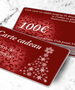 Carte cadeau plastique à imprimer argenté stellaargentum rouge