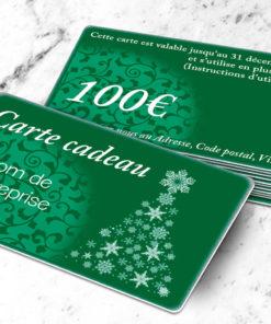 Carte cadeau plastique à imprimer argenté stellaargentum verte