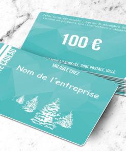Carte cadeau plastique à imprimer caelum bleue