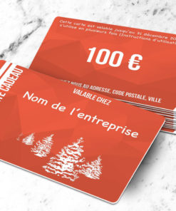 Carte cadeau plastique à imprimer caelum orange