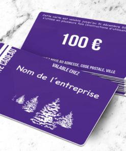 Carte cadeau plastique à imprimer caelum violette