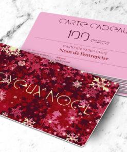 Carte cadeau plastique à imprimer flake rouge