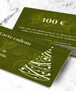 Carte cadeau plastique à imprimer licia abietes kaki