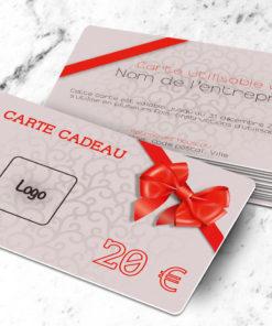 Carte cadeau plastique à imprimer neutra gris
