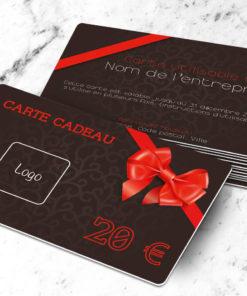 Carte cadeau plastique à imprimer neutra marron
