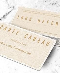Carte cadeau plastique à imprimer petalis marron clair