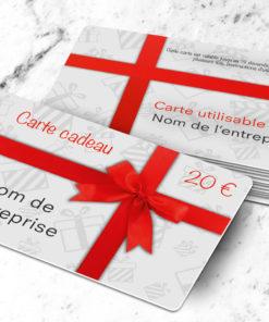 Bon cadeau et carte cadeau vierge à imprimer sur carte plastique pvc, modèle gratuit uitta blanche personnalisable en ligne.