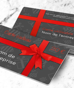Good plastic gift card to print uitta grey, total freedom for the personalisation. Images, logo and text, you choose what you want to print.