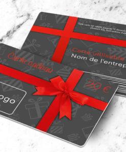 Carte cadeau plastique à imprimer uitta grise