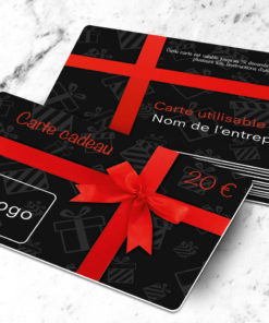 Plastic gift card to print with the free template uitta black