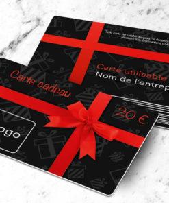 Carte cadeau plastique à imprimer uitta noire
