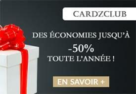 Cardzclub VIP carte plastique pvc réduction cardzprinter