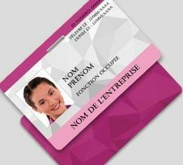Impression badge professionnel plastique pvc perforation oblongue paysage cardzprinter