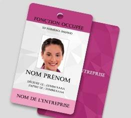 Impression badge professionnel plastique pvc perforation ronde portrait cardzprinter
