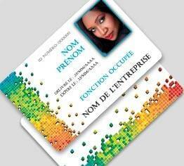 Impression badge professionnel plastique pvc standard paysage cardzprinter