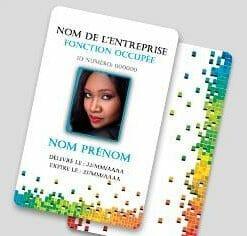 Badge professionnel nominatif (orientation portrait)