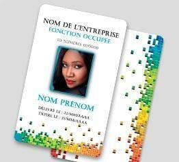 Impression badge professionnel plastique pvc standard portrait cardzprinter
