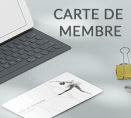 Impression carte de membre club association cardzprinter