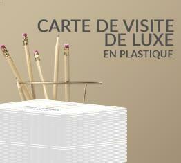 Impression Carte De Visite Luxe Plastique Pvc Cardzprinter