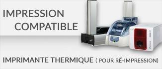 Impression carte plastique compatible imprimante thermique réimpression cardzprinter