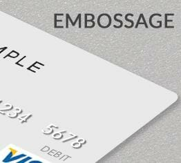 Impression carte plastique pvc embossage cardzprinter