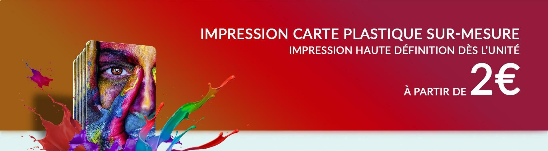 Impression carte plastique pvc sur mesure haute définition dès l'unité cardzprinter