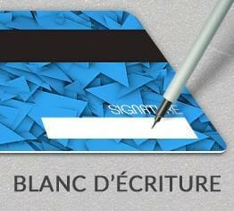 Impression carte plastique pvc blanc écriture cardzprinter