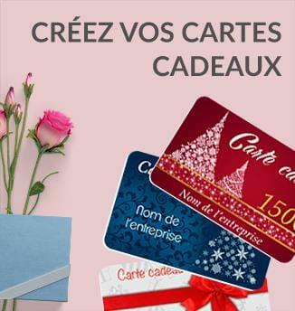 Impression cartes cadeaux cartes privilèges cardzprinter