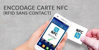 Impression carte plastique NFC sans contact RFID avec notre service d'encodage adapté