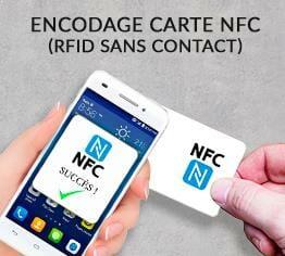 Impression encodage carte plastique nfc sans contact rfid cardzprinter
