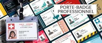 Impression porte badge professionnel nominatif et carte professionnelle nominative directement en ligne surcardzprinter