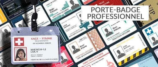 Impression Porte Badge Professionnel Nominatif Carte Professionnelle Cardzprinter