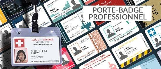 Impression porte badge professionnel nominatif carte professionnelle cardzprinter