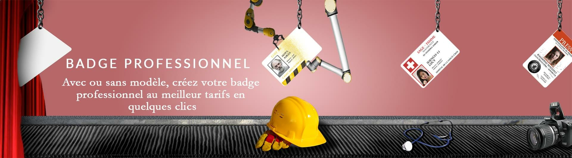 Porte badge professionnel nominatif chantier infirmière photographe cardzprinter