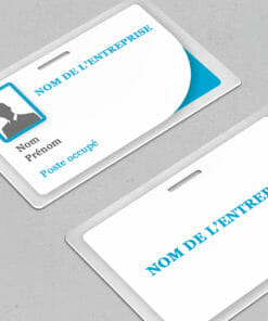 Impression de badge modèle Iustus bleu à personnaliser vous-même dès maintenant
