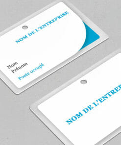 badge visiteur de couleur bleu à personnaliser vous-même en ligne dès maintenant