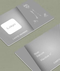 carte de membre association à personnaliser soi même en ligne avec l'outil de personnalisation de cardzprinter