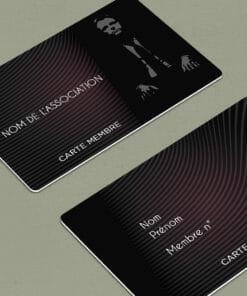 impression carte d'adhésion association plastique pvc couleur noir