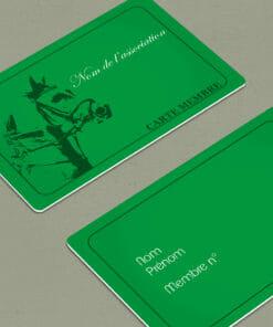 impression-carte-pvc-carte-de-membres-club-equestre-verte
